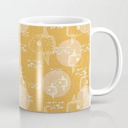 Mola Mola Yellow-Ocean sunfish Coffee Mug