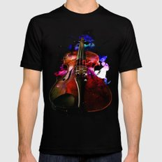 violin nebula Black Mens Fitted Tee LARGE