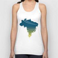 brazil Tank Tops featuring Brazil by jenkydesign