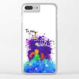 The Little Prince | Quotes | But if you tame me, then we shall need each other. Part 3 of 3 Clear iPhone Case