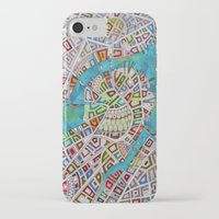 boston map iPhone & iPod Cases featuring imaginary map of boston  by Federico Cortese