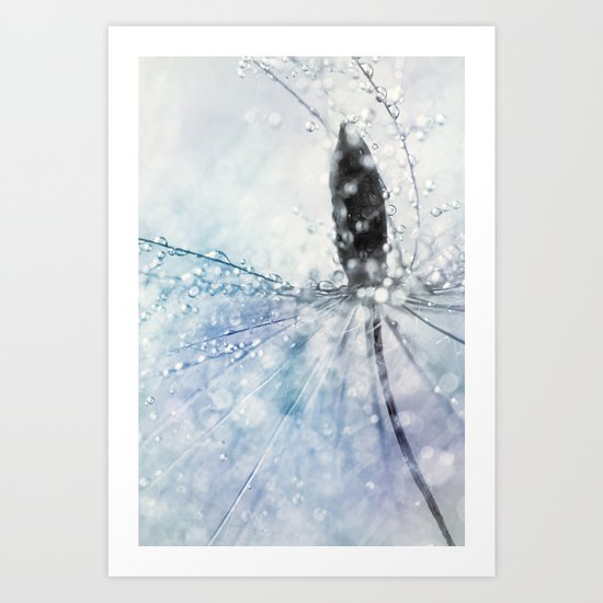 Fairy Baby Blue Art Print
