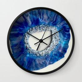 Geode Blue Wall Clock