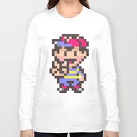 earthbound Long Sleeve T-shirts featuring Ness (Peace) - Earthbound / Mother 2 by Studio Momo╰༼ ಠ益ಠ ༽