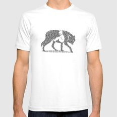 Hungry Like The Wolf Mens Fitted Tee SMALL White
