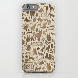 German Shepherd Dog GSD - Pastel Gold iPhone Case