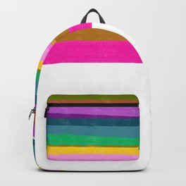 Design lines on white Backpack