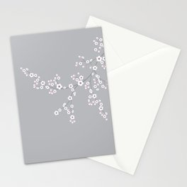 Abstract Japanese Floral Stationery Cards