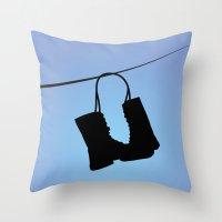 tim burton Throw Pillows featuring Big Fish - Tim Burton by Cap'tain Cyan