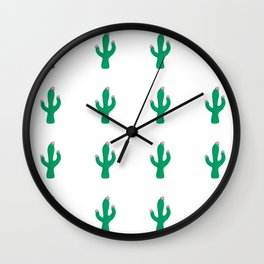 Cactus Desert Pattern Wall Clock