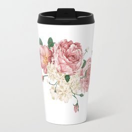 Watercolor rose Travel Mug