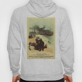Vintage French drowned sailors charity advertising Hoody