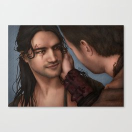 Nagron First Kiss (Nasir, Spartacus) Color Version Canvas Print