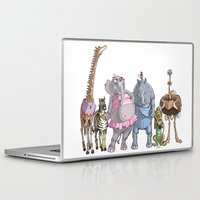 animal crew Laptop & iPad Skins featuring Animal Mural Crew by Michael Jared DiMotta Illustrations