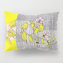 Tender, little hanging plant with stripes and checks, no. 24 Pillow Sham