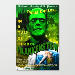 Frankenstein Movie Boris Karloff Canvas Print