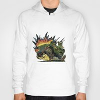 jeep Hoodies featuring Battle Squadron Jeep by Copyright free comic fans
