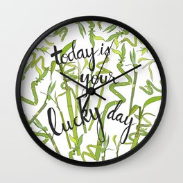 Lucky Day Wall Clock