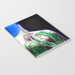 MIND #1 Psychedelic Meditation Vibrant Ethereal Design Notebook