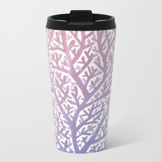 Fan Coral – Rose Quartz & Serenity Metal Travel Mug