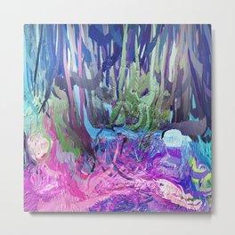 405 - Abstract Colour Design Metal Print