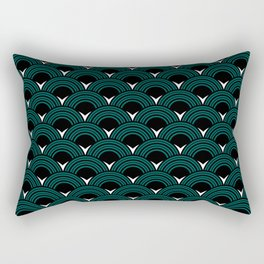 Art Deco Shell Print Rectangular Pillow