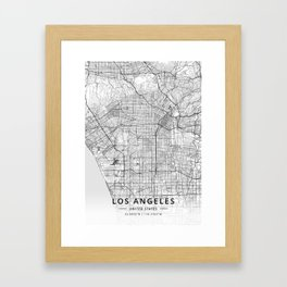 Los Angeles, United States - Light Map Gerahmter Kunstdruck