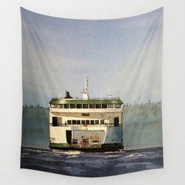 Salish Ferry Wall Tapestry