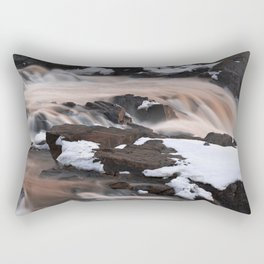Ruby Winter Falls Rectangular Pillow