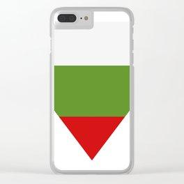 Bulgarian flag Clear iPhone Case