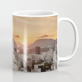 View over Botafogo towards the Sugarloaf Mountain at sunrise, Rio de Janeiro, Brazil Coffee Mug