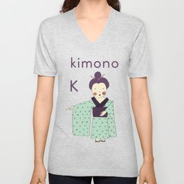 K is for Kimono Unisex V-Neck