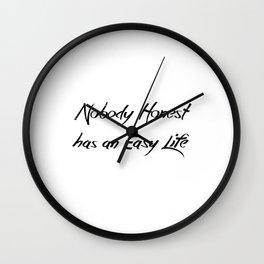 Nobody Honest Wall Clock
