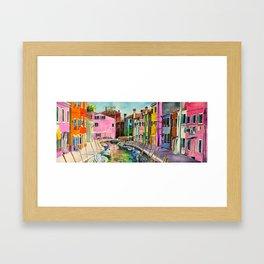 Venice Burano Framed Art Print