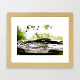Rain Splash Framed Art Print