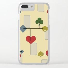 Atomic Era Card Suite Art Clear iPhone Case