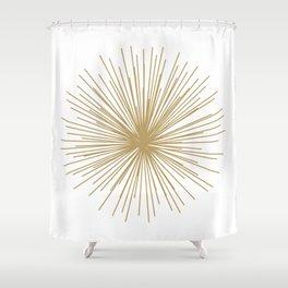 Gold Sputnik Orb Shower Curtain