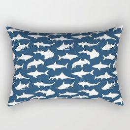 Sharks on Regal Blue Rectangular Pillow