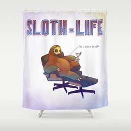 SLOTH LIFE fig. 1. Shower Curtain