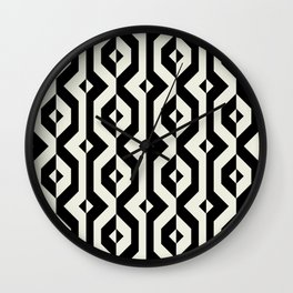 Modern bold print with diamond shapes Wall Clock