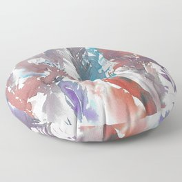 Watercolor Feathers Floor Pillow