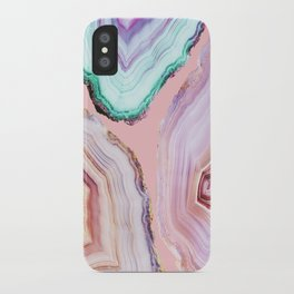 Mineral Agates #Glam collection iPhone Case