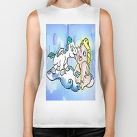 hercules Biker Tanks featuring baby Hercules and Pegasus by grapeloverarts