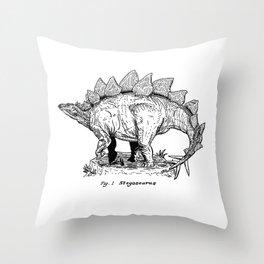 Figure One: Stegosaurus Throw Pillow