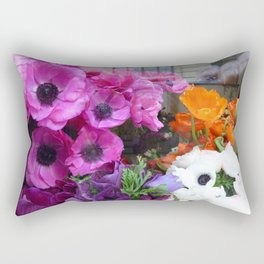 Flower Shop Window Rectangular Pillow