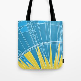 Abstract pattern, digital sunrise illustration Tote Bag
