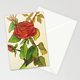 A Garden of a Single Rose Stationery Cards