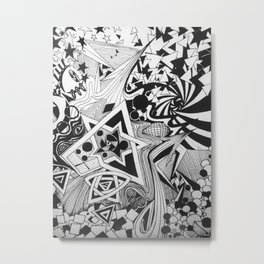 Geometric Print Metal Print