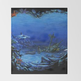 deep sea Throw Blanket