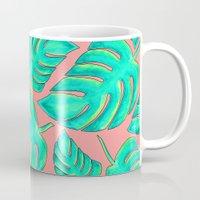 palms Mugs featuring Palms by Anika Kirk